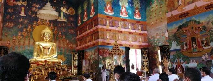 ร่วมพิธีเจริญพระพุทธมนต์สมโภชพระพุทธรูปสำคัญประจำจังหวัด เฉลิมพระเกียรติพระบาทสมเด็จพระเจ้าอยู่หัว เนื่องในโอกาสวันเฉลิมพระชนมพรรษา